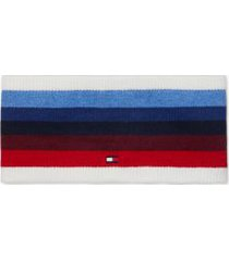 tommy hilfiger women's stripe headband snow white/ multi -