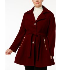 inc plus size skirted belted coat, created for macy's