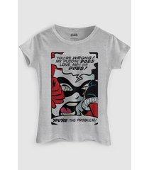 camiseta dc comics harley quinn you´re the problem bandup!