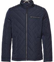 biker jacket kviltad jacka blå tom tailor