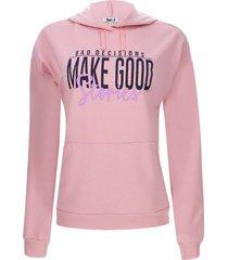 buzo mujer make good color rosado, talla m