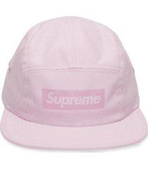 supreme box logo camp cap - pink