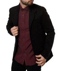 blazer sarja skinny bivik masculino preto
