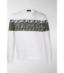 fendi ff camouflage print sweatshirt