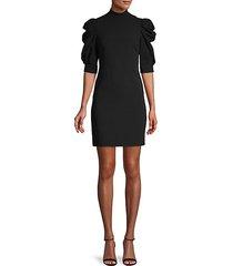 brenna puff-sleeve dress