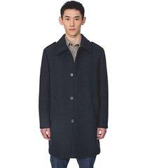 long coat with flap on shoulders n.7066