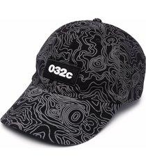 032c topos-print baseball cap - black