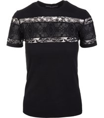 black t-shirt with embroidery