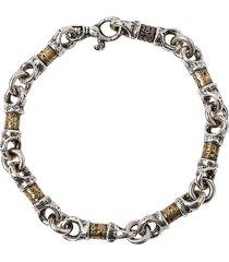 john varvatos mixed link bracelet in gold/silver at nordstrom