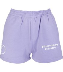 woman lilac shorts with logos