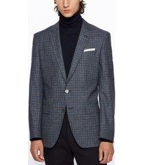 boss men's hutsons4 melange slim-fit jacket