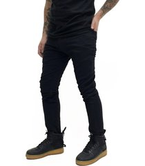 pantalón negro desigual gaby bolsillo