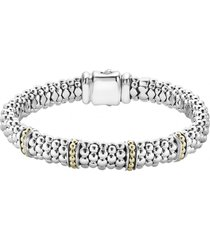 women's lagos 'enso' two-tone rope caviar(tm) bracelet