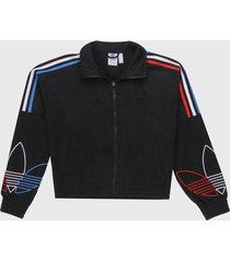 chaqueta negro-multicolor adidas originals trefoil primeblue