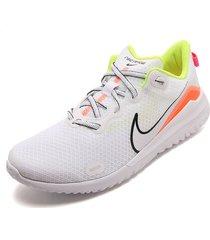 tenis running blanco-amarillo-naranja nike renew ride