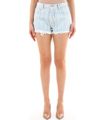 off-white striped shorts