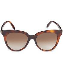 alexander mcqueen women's 53mm oval sunglasses - havana