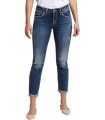 silver jeans co. distressed boyfriend jeans