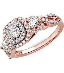 saks fifth avenue women's 14k rose gold & diamond engagement ring - size 7