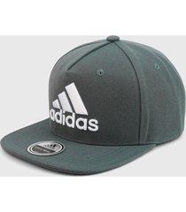gorra gris-blanco adidas performance snapback