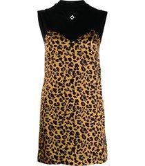 marcelo burlon county of milan cross county leopard dress - black