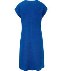 jurk van 100% linnen met ronde hals van anna aura blauw