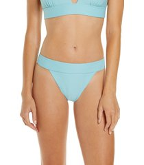 women's chelsea28 banded textured bikini bottoms, size x-large - blue