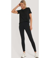 na-kd basic basic highwaist leggings - black