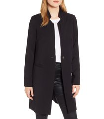 women's kenneth cole new york inverted collar ponte coat