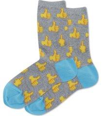 hot sox women's thumbs up crew socks