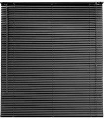 persiana horizontal em pvc 120x160cm preta