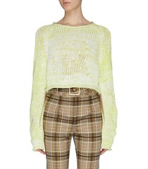 contrast mouliné cropped sweater