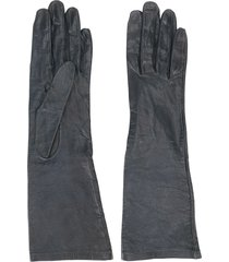 yves saint laurent pre-owned 1980's mid-length gloves - black