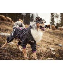 hurtta slush combat pet dog suit waterproof breathable outfit graphite/pink