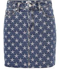 falda demin estrellas azul tommy jeans