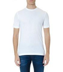 zanone zanone white cotton t-shirt