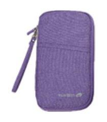 multi-function cartões travel bag portátil algodão linho organizador passaporte bag