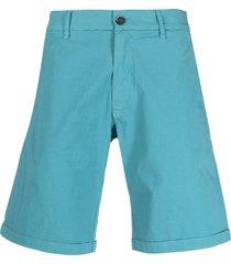 barena straight-leg cotton shorts - green