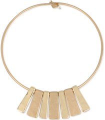 "robert lee morris soho gold-tone geometric bar 16-1/2"" collar necklace"