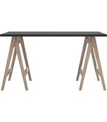 mesa de escritório multiuso 135cm grafite/carvalho dalla costa - tricae