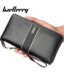 billetera larga para hombres baellerry kna cartera-negro
