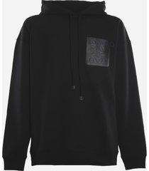 loewe cotton sweatshirt with embossed anagram detail