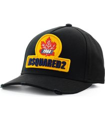 dsquared2 d2 patch black baseball cap