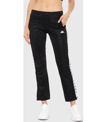 pantalón de buzo kappa negro - calce ajustado