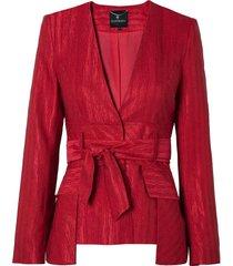 blazer le lis blanc isa detalhe faixa alfaiataria vermelho feminino (paprica, 50)