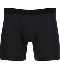 boxer unicolor gris oscuro color negro, talla l