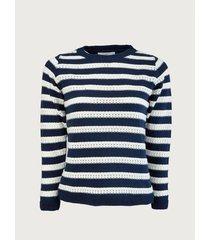 suéter cerrado diseño rayas para mujer 12244