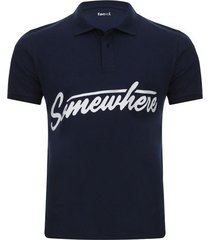 polo hombre somewhere color azul, talla xs