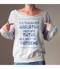 wariatka bluza dla karmiących matek