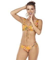 bikini tipo top amarillo lisantino